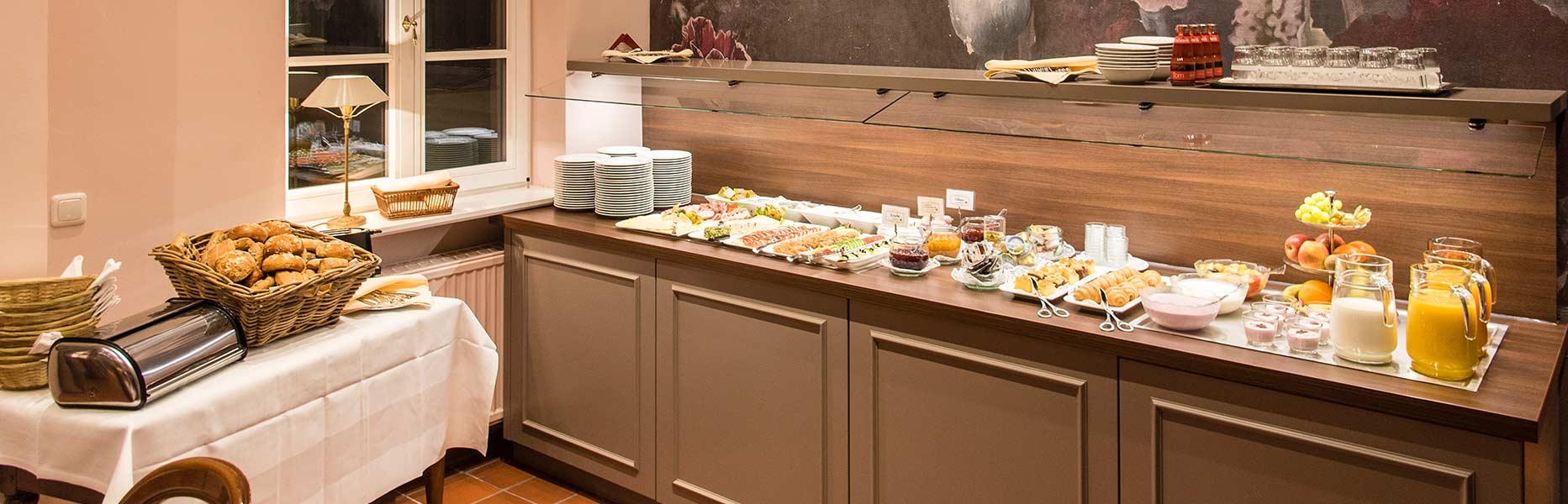 Frühstück im Klassik Altstadt Hotel Lübeck